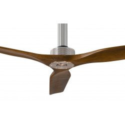 Ventilatore da soffitto, Softy 60 BS-SW, 152cm, cromo/noce, DC, iper silenzioso, + asta 60cm, Klassfan.