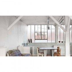 Ventilatore da soffitto, Eterfan, 132cm, DC, trasparente, iper silenzioso, Faro.
