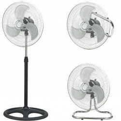 Ventilatore 3 in 1, Machines, 45cm bianco, a piantana/ pavimento/ parete, Lba Home.