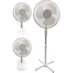Ventilatore 3 in 1, Bora, 40cm, bianco, a piantana/ da tavolo/ parete, Lba Home.