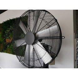 Ventilatore alta velocitá/industriale a parete, Pole Storm, 122cm, potenza di 1100W, ideale per superfici fi 120m2, Lba Home.
