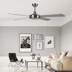 Ventilatore da soffitto, Astro argento , 132cm, nichel, moderno, Lba Home