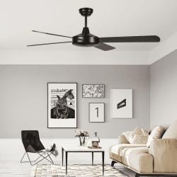 Ventilatore da soffitto, Astro marron, 132cm, marrone/noce, moderno, Lba Home.