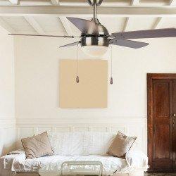 Ventilatore da soffitto, Ponoma, 106cm, rame/noce/ciliegio, con luce, moderno, Lba Home.