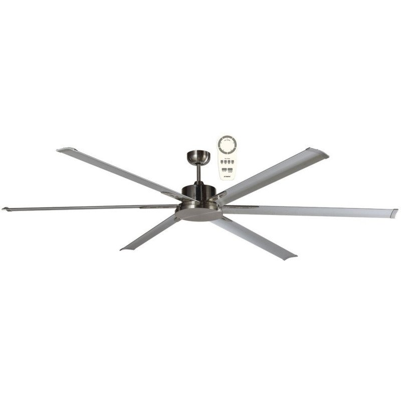 Ventilatore da soffitto, North Star Grey, 210cm, industriale, DC, niquel/grigio, Lba Home