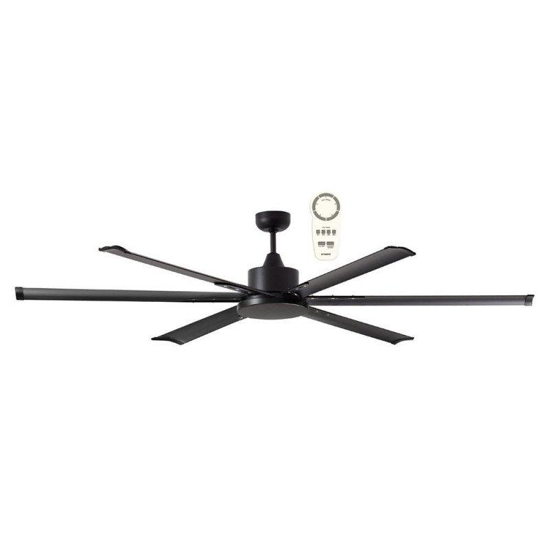 Ventilatore da soffitto, North Star Black, 210cm, industriale, DC, nero, Lba Home