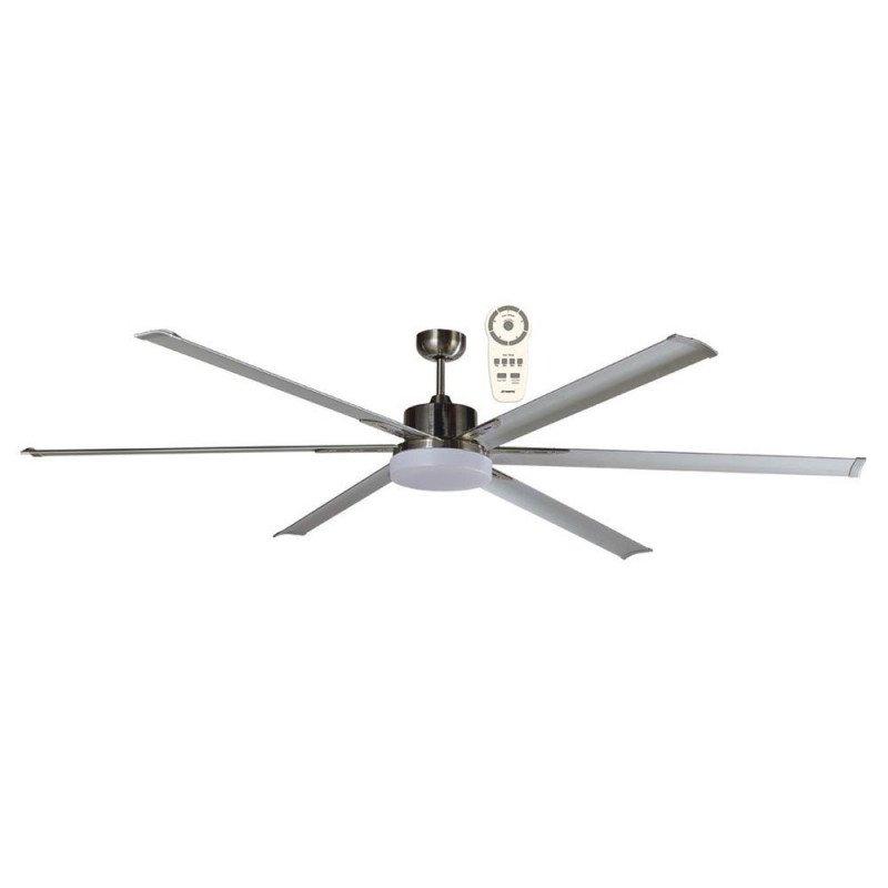 Ventilatore da soffitto, North Star Grey, 210cm, industriale, DC, niquel/grigio, con luce, Lba Home