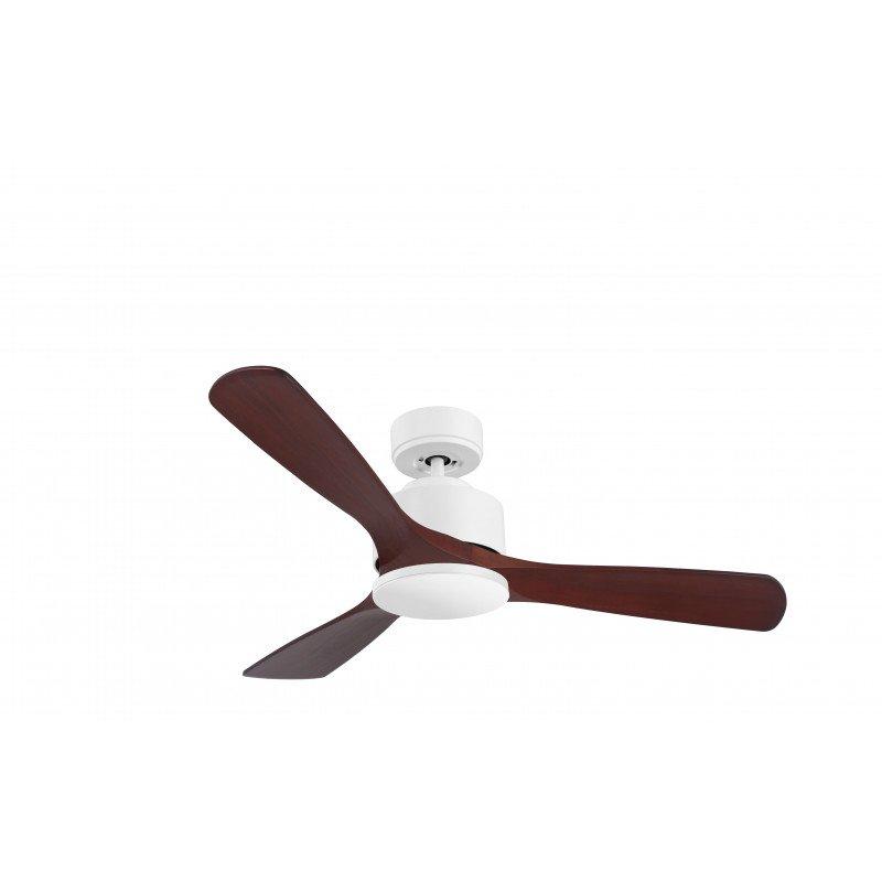 Ventilatore da soffitto-super destratificatore, Modulo, 132cm, corpo bianco/ legno scuro, termostato, Klassfan
