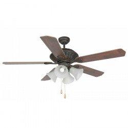 Ventilatore da soffitto, Corso, 132cm, marrone ossidato/ caoba rosso/rovere sbiancato, con luce, Faro