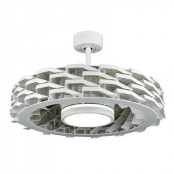 Ventilatore da soffitto senza pale, Yoga, 70cm, efficiente, DC, bianco, Lba home