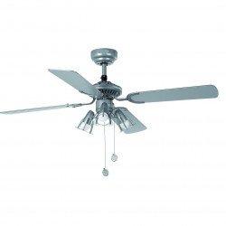 Ventilatore da soffitto, 107 cm, grigio, con luce, classico, faro