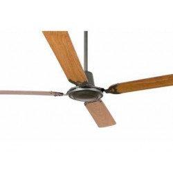 Ventilatore da soffitto, Malvinas, 140cm, classico, grigio/caoba e noce, Faro