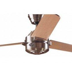 Ventilatore da soffitto, Carera BN, 132 cm, cromo spazzolato/acero/noce, Hunter.