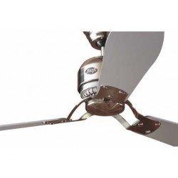 Ventilatore da soffitto, Industrie BN, 132 cm. cromo spazzolato/grigio/teak, moderno, Hunter.