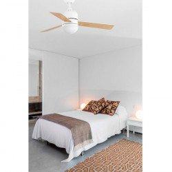 Ventilatore da soffitto, Cebu, 102cm, bianco/ acero, con luce LED, Faro