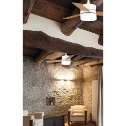Ventilatore da soffitto, Bahia, DC, 106,6cm, con luce, bianco/faggio, Lba Home.