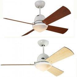 Ventilatore a soffitto Libeccio, corpo bianco, un solo prodotto - 20 ventilatori differenti!