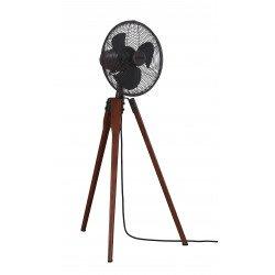 Ventilatore a piantana,Arden OB , 36,9 cm, noce e bronzo OB, con treppiede, potente, silenzioso, Casafan.