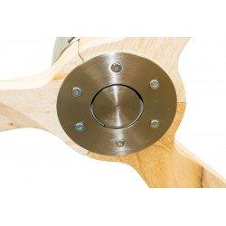 Ventilatore da soffitto, Latino III, 166cm, DC, cromo/legno, super destratificatore, + termostato e wifi, Klassfan