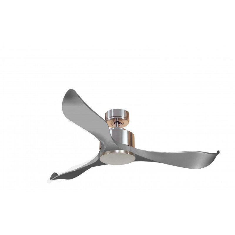Ventilatore da soffitto, Modulo, 132 cm,  DC, cromo e grigio, super destratificatore,klassfan