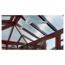 Ventilatore a soffitto, 150 cm. industriali, bianco, con telecomando