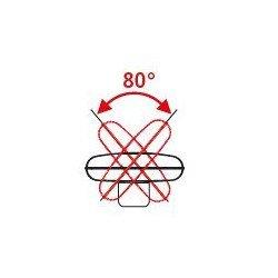 Ventilatore con piedistallo ad alte prestazioni, WM2 Ec, 65cm, 123 W max, ultra potente, Casafan