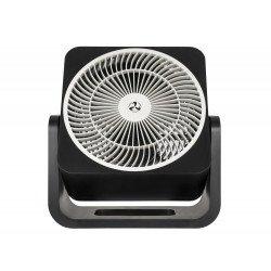 Ventilatore da tavolo, Airos circubox SW, 20cm, nero opaco, con meccanismo di oscillazione, Casafan.
