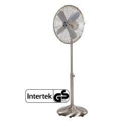 Ventilatore a piantana,  Satin metal Breeze II , 40cm, metallo cromato/satinato, uso domestico e commerciale, Casafan.