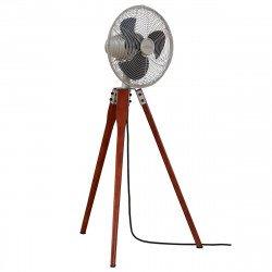 Ventilatore a piantana, Arden SN , 36,9 cm, noce nichel satinato, con treppiede, potente, silenzioso, Casafan.