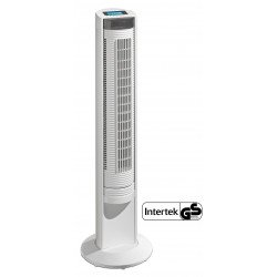 Ventilatore a torre,  Airos Big Pin II WE, bianco, alto 104cm, con telecomando, uso domestico e commerciale, Casafan..