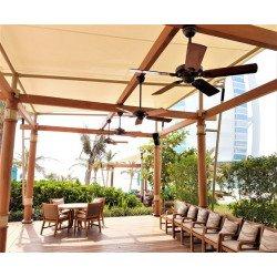 Ventilatore da soffitto, Outdoor Elements Wbod, 132cm, coloniale, per uso interno e esterno, IP44, corpo alluminio effetto antic