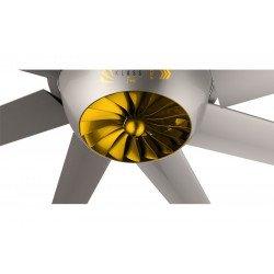 HVLS Ventilatore da soffitto, DC Raptor HVLS RTDC14, industriale, 426 cm , per superfici da 330 a 450m2, Klassfan