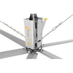 HVLS Ventilatore da soffitto, StatorOM-KQ-4E 220V, industriale, 4,9 m, per superfici fino a 850m2, Klassfan