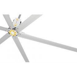 HVLS Ventilatore da soffitto, StatorOM-KQ-6E 380V, industriale, 6,1m, per superfici fino a 1230m2, super efficiente, Klassfan