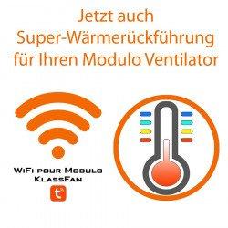 """Comando Wifi per i ventilatori da soffitto Modulo di Klassfan. Con funzione termostato. Tramite App """"Tuya Smart""""."""