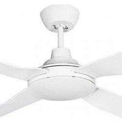 Ventilatore da soffitto, Freedom blanc, 140 cm, corpo e pale bianche, IP55 per esterni, Lba Home