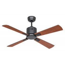 Ventilatore da soffitto, Eco Neo III 103 BG-NB/KI, 103 cm, DC, corpo grigio basalto, noce/ciliegio, Casafan.