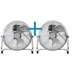 2x Ventilatori da pavimento industriale , Austro 45 g , 50cm, 100W max, cromato, alte prestazioni e velocitá, Lba Home