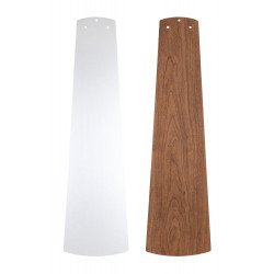 Ventilatore da soffitto, Eco Pallas 116 BN-SL/KI, 116 cm, DC, moderno, pale argento/ciliegio, per soffitti bassi, Casafan