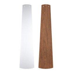 Ventilatore da soffitto, Eco Pallas 142 BN-SL/KI, 142cm, DC, moderno, pale argento/ciliegio, per soffitti bassi, Casafan