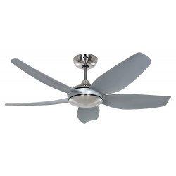Ventilatore da soffitto, Eco Volare 142 BN-LG, 142cm, DC, cromo/grigio + telecomando, Casafan.
