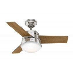 Ventilatore da soffitto, FINLEY 91 BN, 91cm, moderno, pale noce americano/legno naturale, con luce, Hunter