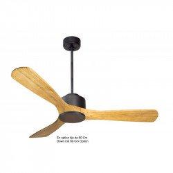 Ventilatore da soffitto super-destratificatore, Modulo, 132 cm, motore DC, grigio basalto/legno chiaro, con termostato,Klassfan