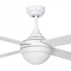 Ventilatore da soffitto, Effy White, 122 cm, moderno, acciaio bianco/ pale bianche o marrone scuro, con luce, Lba Home