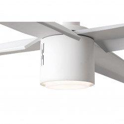 Ventilatore da soffitto, ATTOS LED, 213cm, DC, bianco, luce LED dimmer, Faro.