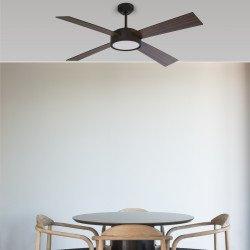 Ventilatore da soffitto, HYDRA LED, DC, 132cm, con luce LED, IP20, Faro.