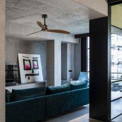Ventilatore da soffitto, Copper Fan,  128 cm, DC, design, nero/ legno/ rame,  Faro.