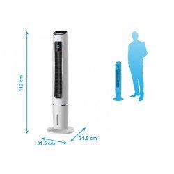Raffrescatore evaporativo a torre/ ionizzatore, Rafy 75, facile da usare, 65 W, 3 velocitá, Purline.