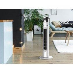 Ventilatore a torre digitale, Venty 40, 40 W, elegante, +timer, pannello LED, Purline.
