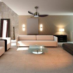 Ventilatore da soffitto, Yakatan, 142cm, DC, moderno, con luce e telecomando, Lba Home.